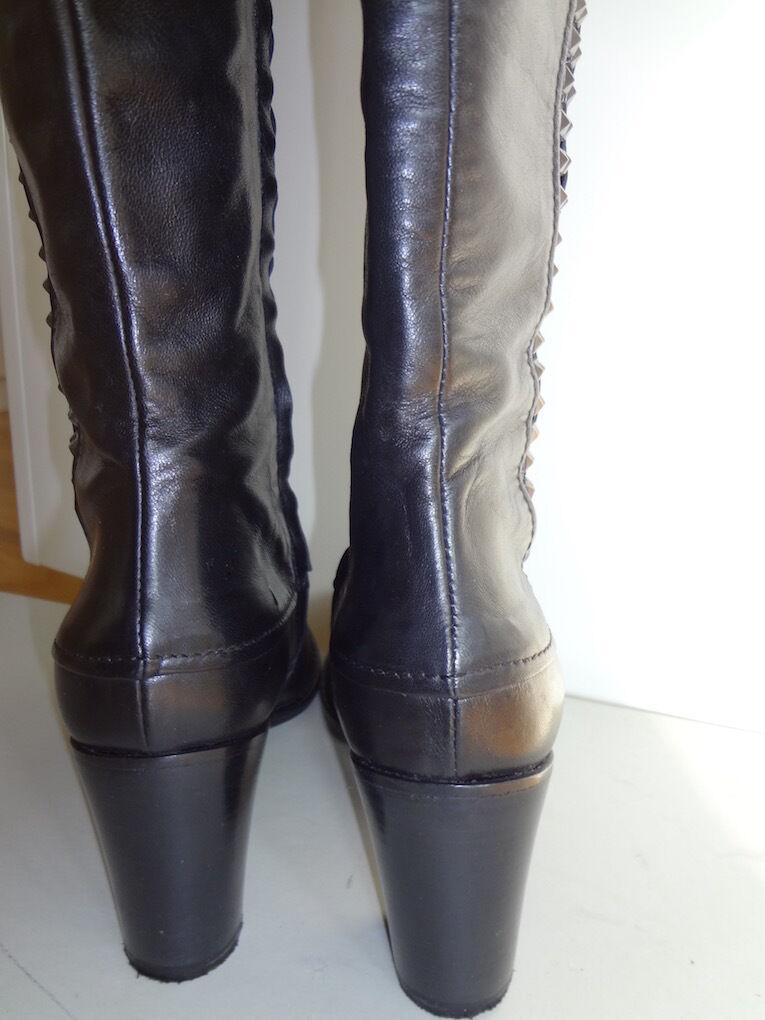 Stiefel von FERRE schwarz Milano, Gr 37, Leder, schwarz FERRE 7c1365
