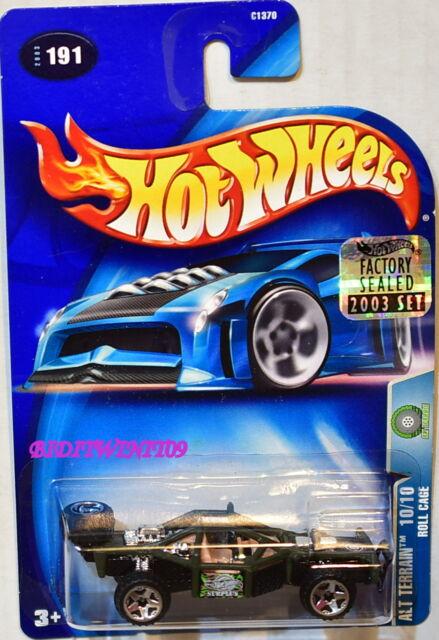 Hot Wheels 2003 Alt Terrain Rouleau Cage #191 Vert Usine Scellé