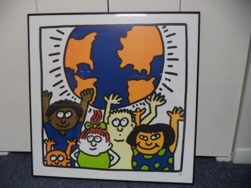 Children of the World Framed Poster Print 28 x 28 Authorized by estate of Keith