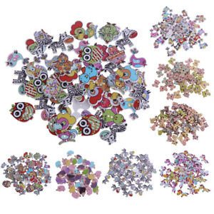 50pcs-Wooden-Buttons-2-hole-Cartoon-Animal-Buttons-for-DIY-Sewing-Scrapbooking