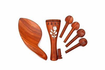 1set parts Hand Rosewood made Violin White shell Accessories inlay Violin rHS7wqr