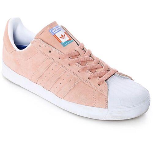 adidas Superstar Vulc ADV Pastel Pink Shoes Size 4.5