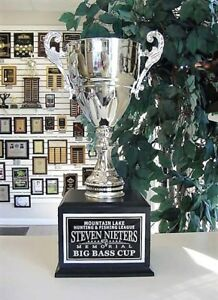 Details about FISHING HUNTING 16 YEAR PERPETUAL AWARD SILVER METAL CUP  AWARD TROPHY J*MCJ3S