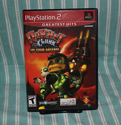 Ratchet & Clank Up Your Arsenal PS2 GH COMPLETE CIB Playstation Insomniac Sony