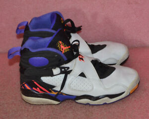 on sale b8385 ef24d Details about Nike Air Jordan Retro 8 Three-Peat Infrared Purple Concord  305368-142 Size 5.5Y