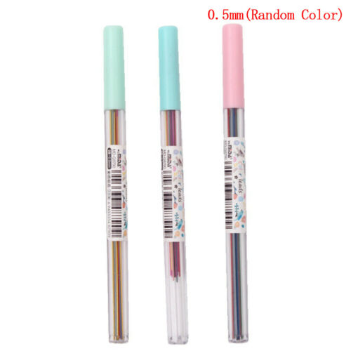 50x automatic mechanical pencil refill color lead school stationery 0.5//0.7mm 2Y