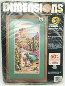 Needlepoint-Kit-Southwest-Afternoon-Desert-Cactus-Artifacts-New-Vintage-1993