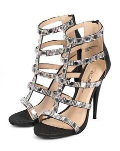 c293c8f5e84c New Women Wild Rose Monroe-01 Glitter Open Toe Gem Gladiator ...