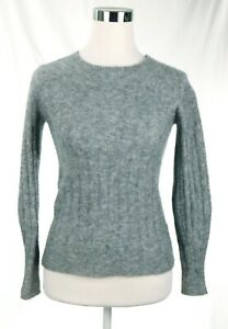 EUC-Banana-Republic-58-Wool-14-Alpaca-Heavy-Gray-Stretch-Sweater-Women-Size-XS