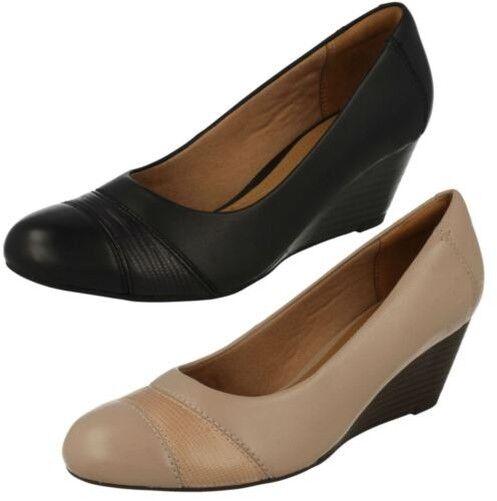 Clarks Cuña de las de Señoras zapatos  de las Tacón Brielle Tacha b915f2