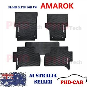 Premium-Quality-Volkswagen-Amarok-All-Weather-Rubber-Car-Floor-Mats-2011-2018