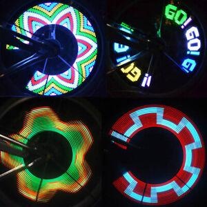 32-LED-blinkend-bunt-Fahrrad-Rad-Reifen-Speichen-Signal-Licht-fuer-Fahrrad-Cool-K