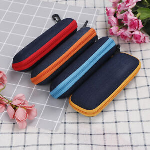 Men's Glasses Apparel Accessories 1 Pc Rectangle Grid Zipper Eye Glasses Case Hard Eyewear Box Sunglasses Case Colorful