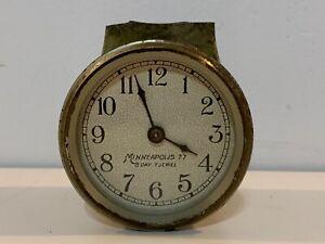 Vintage-Minn-Honeywell-77-8-Day-Brass-Thermostat-Clock-Untested