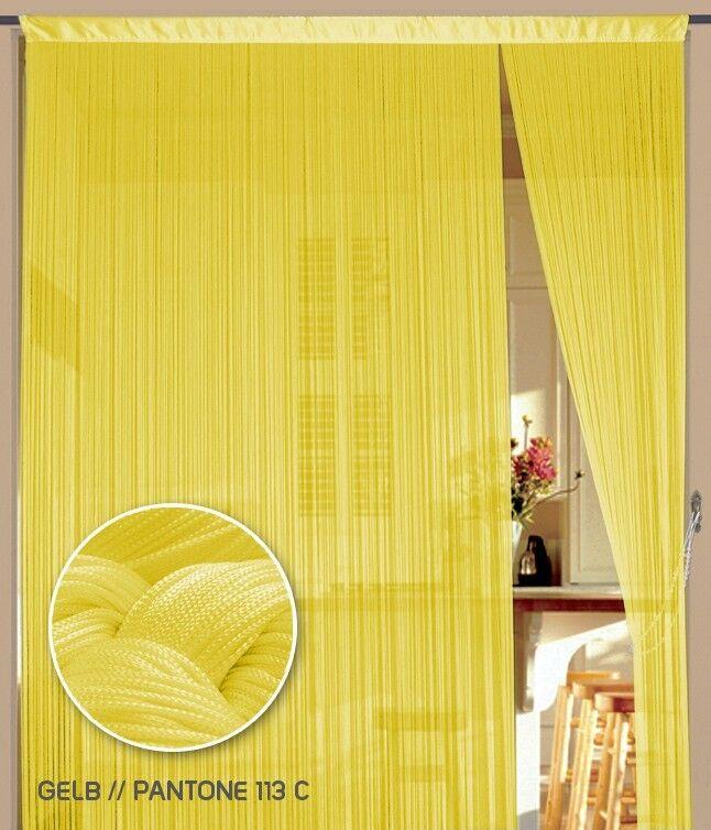 Fadenvorhang Vorhang Gardine Kaikoon 150 x 500 cm (BxH) Farbe Gelb