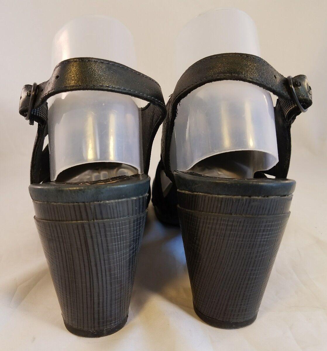 Dansko woman studs schuhe 41/10-10.5 Sandales metallic charcoal schwarz Leder 41/10-10.5 schuhe EUC 86cddb