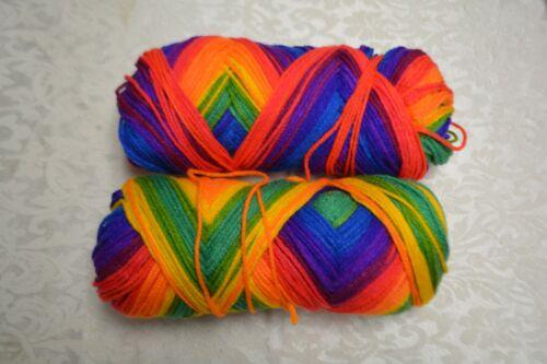 Southern Belle Mill End Yarn 16 oz Bright Stripe 3-4 ply Acrylic