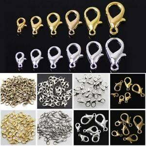 Wholesale-DIY-Jewelry-Findings-Lobster-Claw-Clasps-Hooks-Gold-Silver-Antibrass