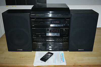pioneer z series hi fi stereo stacking system with speakers remote manual ebay ebay