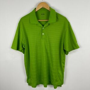 Adidas Golf Polo Shirt Mens Large Green Short Sleeve Collared