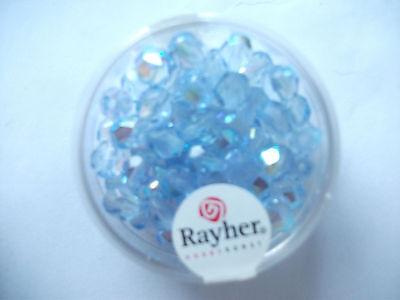 100x feuerpolierte Glasschliffperlen 3mm Silber metallic irisierend # 98554