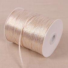 "20yards 1/8"" solid satin ribbon w/gold edge wedding decoration wrapping craft"