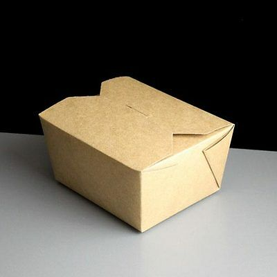 50 Leakproof No.1 Brown Kraft Carton 26oz Take-away  Noodles Salads Fish&Chips