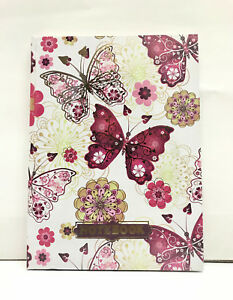 butterflies Accessories Printed Hard Cover Notebooks By Matador