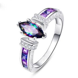 Noble-925-Silver-Jewelry-Women-Lady-wedding-Rings-Cut-Topaz-Ring