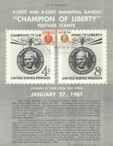 1174-amp-1175-4c-amp-8c-Gandhi-Stamp-Poster-Unofficial-Souvenir-Page-Flat-HC