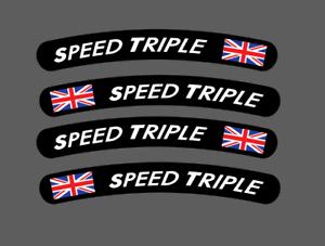 DRAPEAU ANGLAIS SPLASH TRIUMPH SPEED STREET TRIPLE FOUR