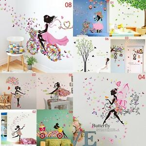DIY-Lovely-Girl-Art-Wall-Stickers-For-Kids-Rooms-PVC-Wall-Decals-Home-Decor