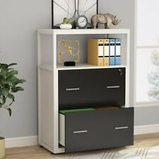 Large Modern Filing Cabinet Printer Stand With Metal Wire Open Storage Shelves