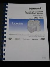 Printed panasonic lumix dmc fz72 camera instruction manual / user.