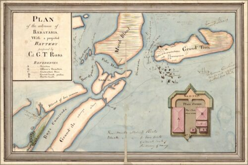 Poster, Many Sizes; Map Of Barataria Bay Louisiana War Of 1812 Pb1812