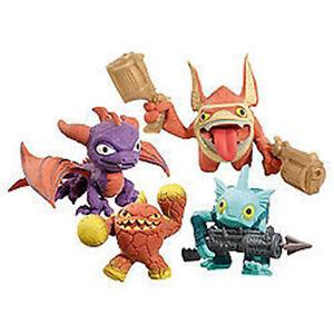 Skylanders-School-Bag-Clips-amp-Squishable-toys-Spyro-Eruptor-Trigger-Happy-gill