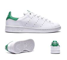 Junior Adidas Stan Smith White/Fairway Trainers