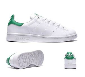 huge selection of 21449 991d8 Image is loading Junior-Adidas-Stan-Smith-White-Fairway-Trainers