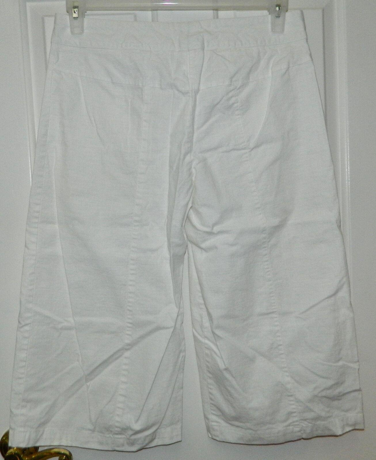 HEART SOUL womens juniors WHITE Cotton WIDE LEG C… - image 3