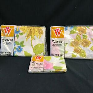 Wamsutta-Vintage-Sheet-Set-4-Piece-Ultracale-Double-Gentle-Flowers-Print-Yellow