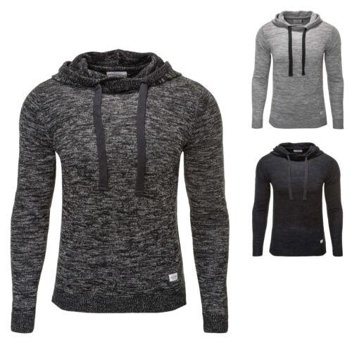 Jack /& Jones Uomo Hoodie Pullover A Maglia Pullover Sweater COLOR MIX NUOVO