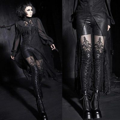 PUNK RAVE Gothic Noblesse Leggings Lace Leggins EDEL ROMANTIC GOTHIC LEGGINS