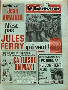 Initiative Marius L'épatant Le Hérisson N°2121 - 1986 - Jules Ferry - Sim - Salvador - Pub