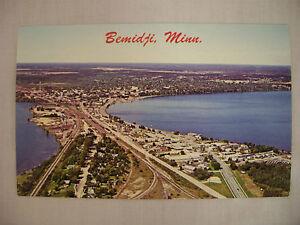 Details About Vintage Photo Postcard Aerial View Of Bemidji Minnesota Unused