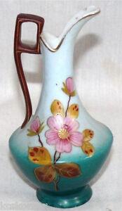 Antique-Victoria-Carlsbad-Austria-Miniature-Pitcher-Arts-amp-Crafts-Blue-Mark