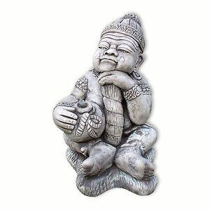 Steinfigur Wächter asiatisch Garten Deko Teich Figur Asia | eBay