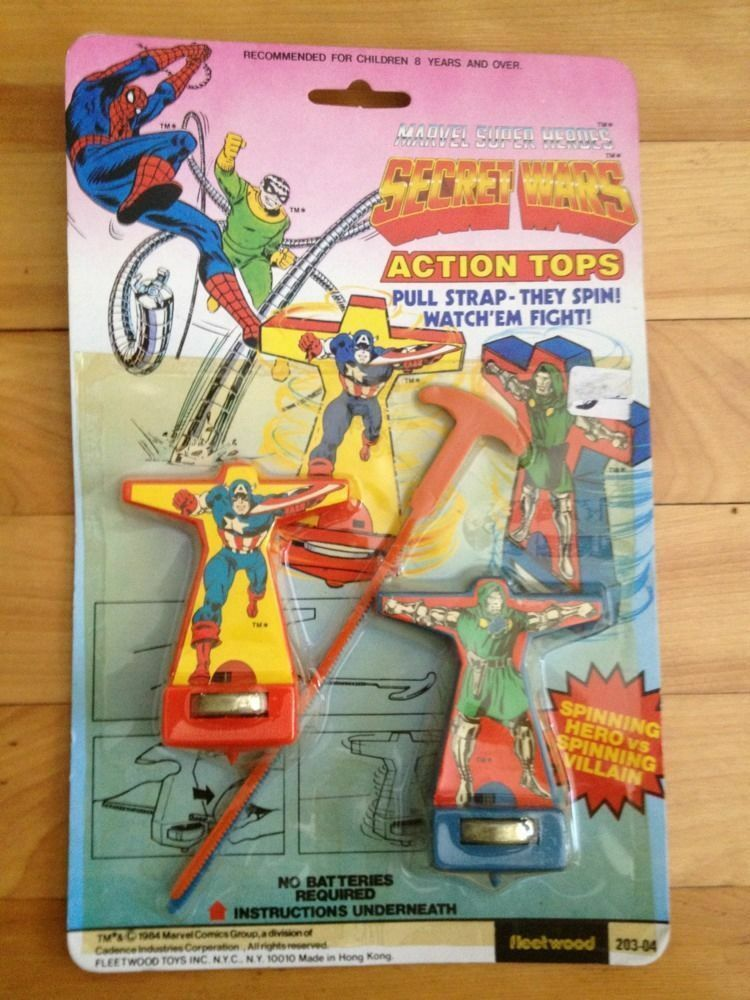 Marvel - superhelden secret wars action - tops, captain america, dr. doom - 1984
