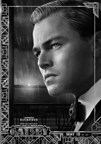 The Great Gatsby Movie Giant Poster Art Print Black /& White Card Canvas