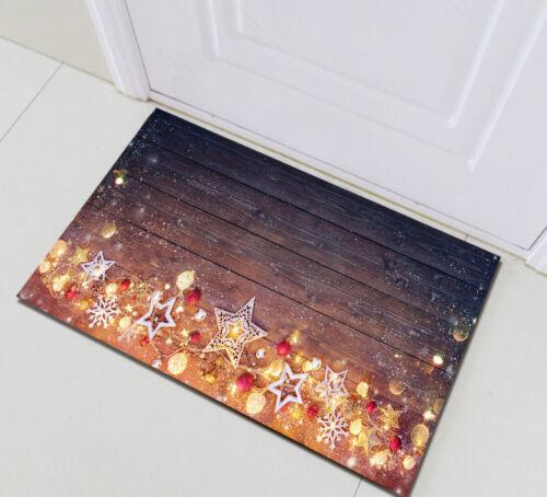 Merry Christmas Home Non-slip Floor Carpet Mat Rug Bathmat Doormat Memory Foam