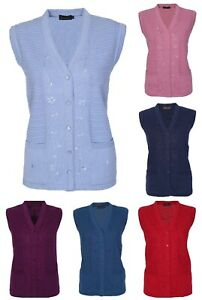 Sleeveless-Knitted-Cardigan-for-Women-Ladies-Cable-Knit-Waistcoat-V-Neck-12-18